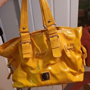 Large Dooney Bourke yellow chiara handbag tote
